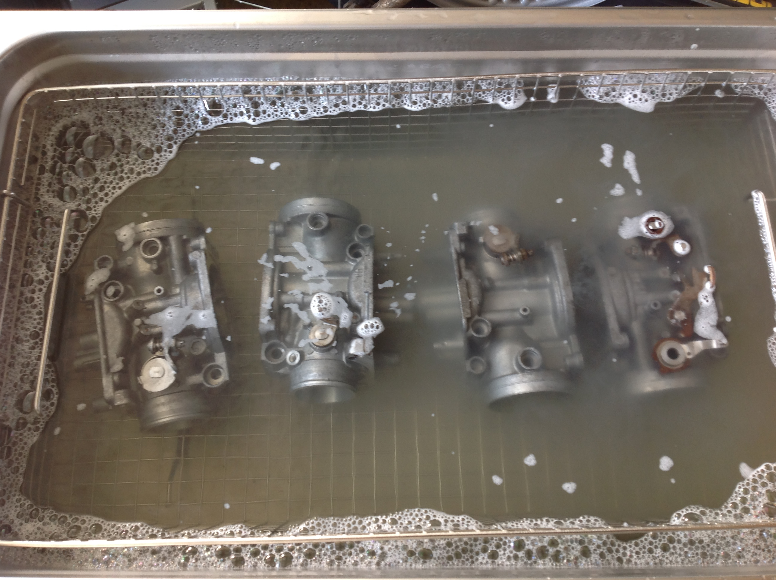 CBX 1000 Carb Bodies in Ultrasonic Cleaner